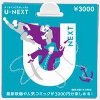 U-NEXTカード3,000円