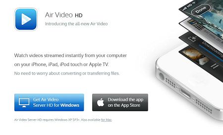 Air Video HDのアプリの設定画面1