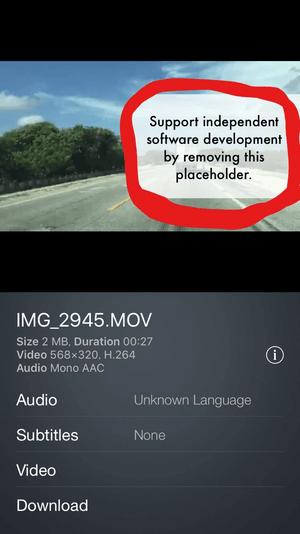 air video HD 無料版の画面