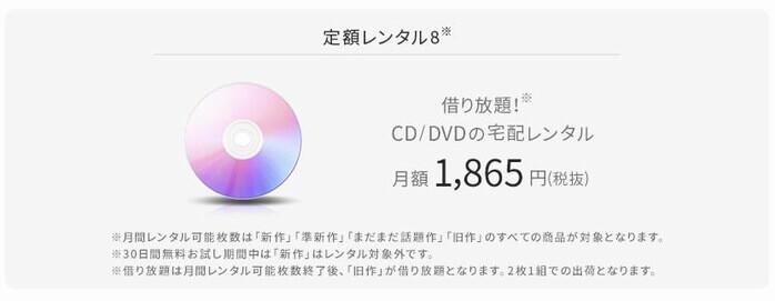 TSUTAYA DISCAS定額レンタル8
