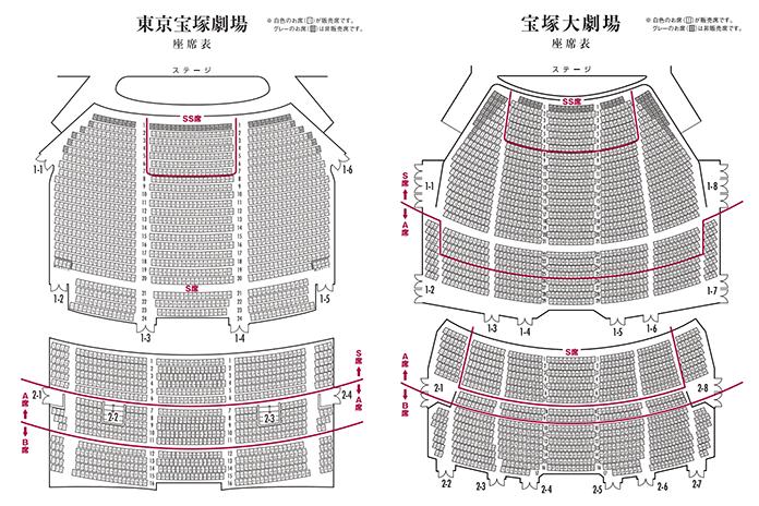 宝塚歌劇の劇場の販売座席
